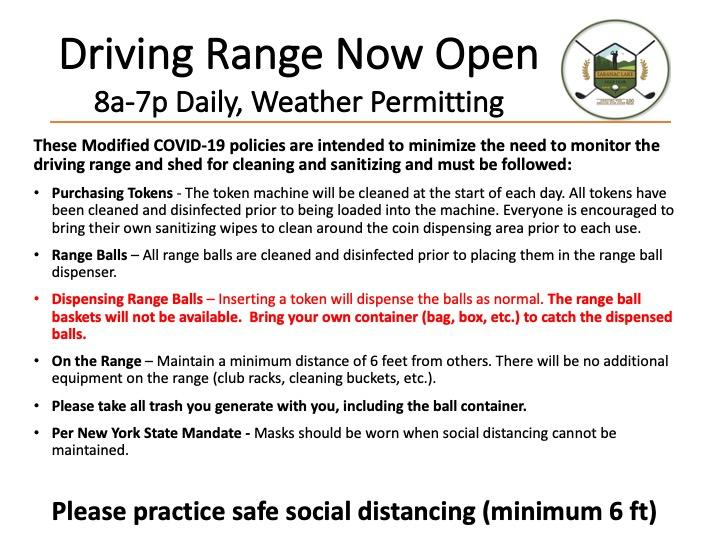 Driving Range Restrictions